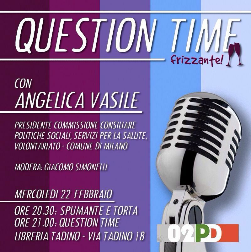 Question time, vi aspetto!